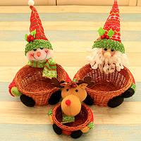 Рождество 2017 Candy Sugar Органайзер Хранение корзины Коробка Бункеры Чехол Настольный стол Новогоднее украшение