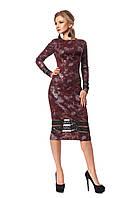 Женское платье из полированной ангоры № 1031 (бордовый)