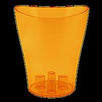 Вазон для орхидей Ника Ø 130мм*155мм, 1,1л, темно-оранжевый PS Алеана 1/13