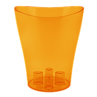 Вазон для орхидей Ника Ø 160мм*190мм, 2,0л, темно-оранжевый PS Алеана 1/10