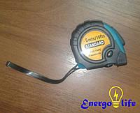 Рулетка резиновая с магнитом STANDART  длина рулетки 5 м, ST 285-5
