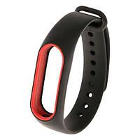 Ремень для браслета Xiaomi Mi Band 2 Black / Red (Р27689)