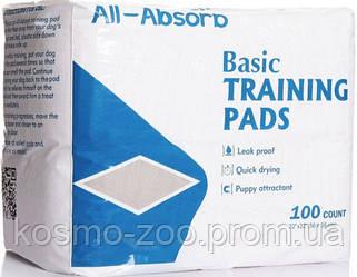 Пелёнки для собак All-Absorb Basic Training Pads 56х56 см / 100 штук
