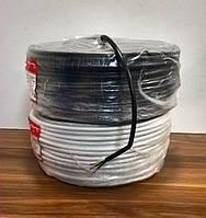 Кабель провод ПВС 3х1,5 белый/черный ГОСТ Интерэлектро