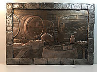 Гипсовый декор стен Погреб