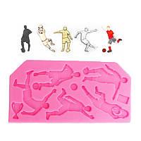 Пищевой Сорт Силиконовый Торт Mold DIY Chocalate Cookies Ice Tray Baking Инструмент Форма футбольного игрока