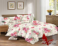 Комплект постельного белья сатин двуспальный TM Tag 109