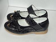 Черные туфли для девочки Шалунишка, р. 28(16,5см)