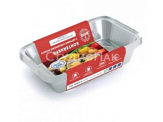Набор контейнеров из пищевой фольги с крышками Мастер Смак  960 мл упаковка 5 шт, фото 2