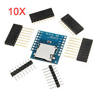 10Pcs WeMos® Micro SD Card Shield для WeMos D1 Mini TF WiFi ESP8266 Совместимый модуль беспроводной связи SD для Arduino