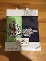 Набор махровых  полотенец в подарочной коробке  (символ года 2018)