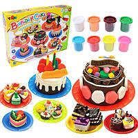 Сладкие дети Кухонные игрушки День рождения торт цветной глиняный костюм ручной работы игрушки