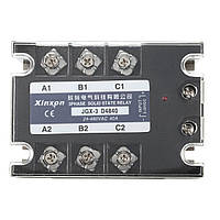 JGX-3 D4840 Трехфазное твердотельное реле SSR DC-AC 40A Входной сигнал 3-32 В постоянного тока 24-480 В переменного тока