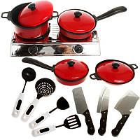 13PCS Cook Ware Игрушка Дом Кухня Приготовить Посуда Кулинария Горшки Кастрюли Пищевые блюда Детская посуда