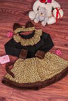 Костюм для девочки на Новый год 30-32 р Кошечка, детские новогодние костюмы оптом от производителя