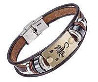 Кожаный браслет Primo Zodiac - Scorpio (Скорпион)