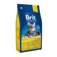 Brit Premium Cat Adult Chicken с лососем 8кг