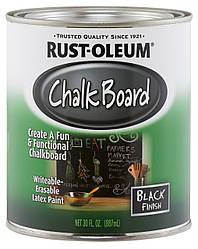 Грифельная краска Rust Oleum (Chalkboard) Черная, 0.946 л