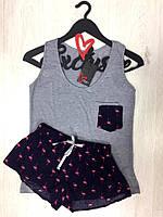 Пижама майка и шорты, фламинго, фото 1