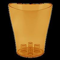 Вазон для орхидей Ника Ø 130мм*155мм, 1,1л, янтарный PS Алеана 1/13