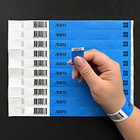 Одноразовые браслеты Tyvek со Штрих кодом