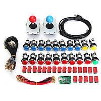 Аркада Игра Панель управления LED Освещенная DIY Набор 2 Джойстики 20 Кнопки USB MAME
