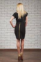 Трикотажная юбка на молнии черная