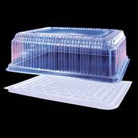 Пластиковая упаковка для прямоугольного торта 7444 ПЕТ