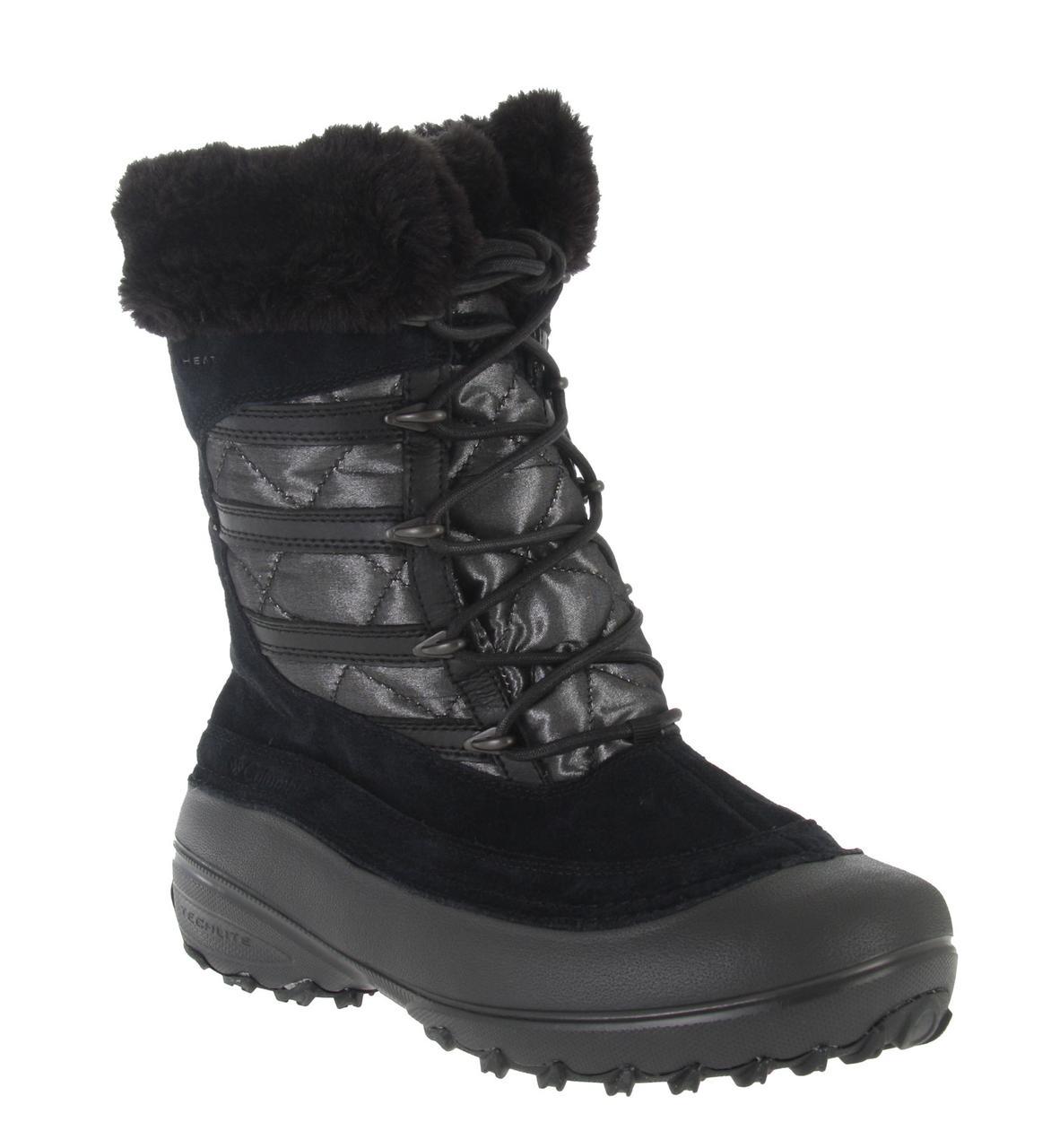 Сапоги зимние женские сноубутсы / Columbia Women's Slopeside Omni-Heat Boot (BL1460), Черные 36