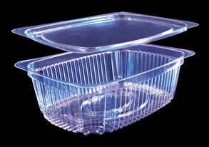 Упаковка для салатов с крышкой 2200 /(220мл)/150шт/ ПЕТ