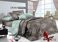 Комплект постельного белья сатин двуспальный TM Tag 116