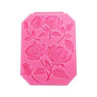 Пищевой Сорт Силиконовый Торт Mold DIY Chocalate Cookies Ice Tray Baking Инструмент Rose Shape