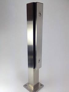 ODF-02-06-01-H400 Стойка для стеклянного ограждения высотой 400 мм с прижимной пластиной