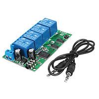 AD22B04 DC 12V 4CH DTMF Tone Signal Decoder Phone Voice Дистанционное Управление Модуль реле для LED Мотор Smart Smart