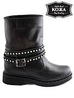 Ботинки кожаные со стильным декором. АРТ- 6118-28