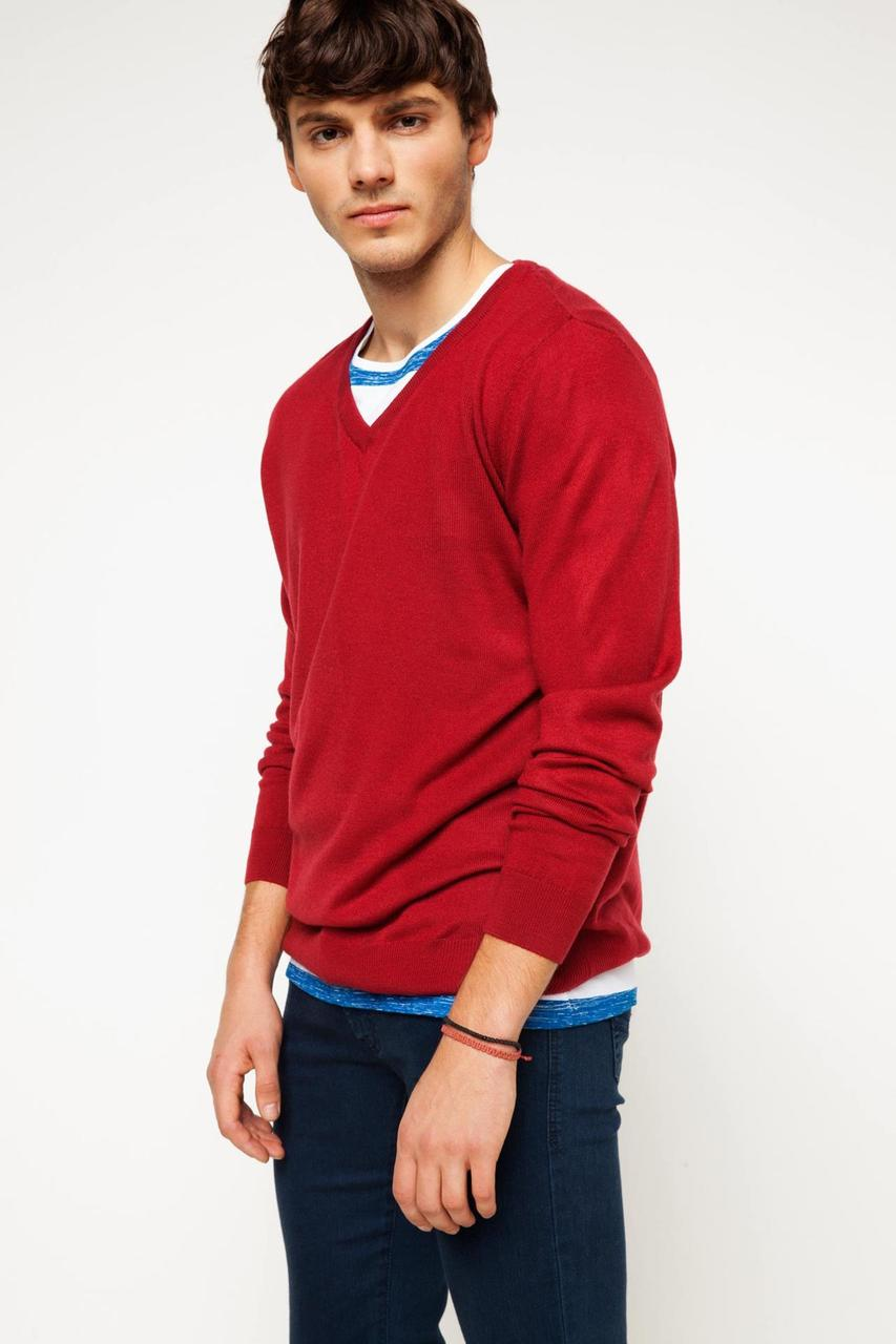 Красный мужской свитер De Facto / Де Факто
