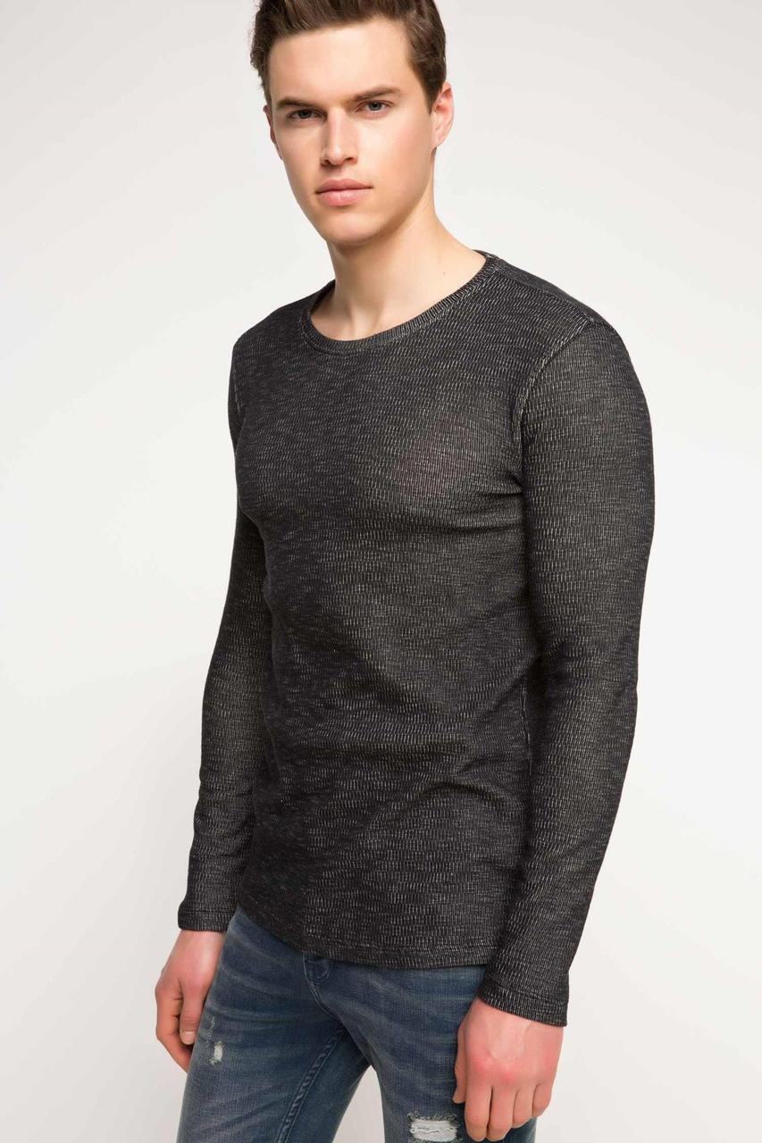 Серый мужской свитер De Facto / Де Факто