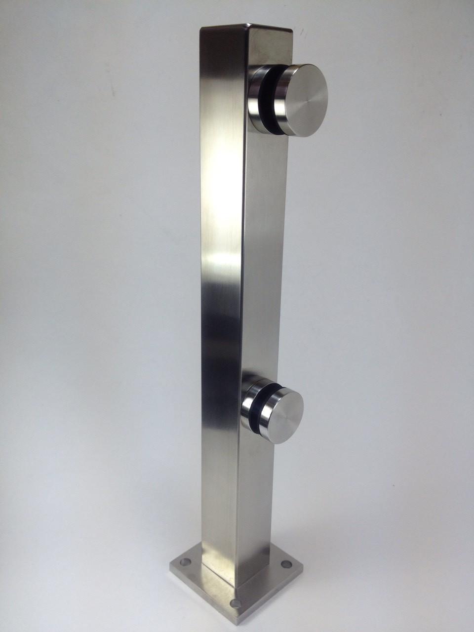 ODF-02-07-01-H400  Стойка для стеклянных перил 400 мм из нержавейки с точечным креплением