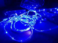 Гирлянда уличная светодиодная лента синяя LED 5 метров, фото 2