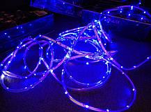 Гирлянда уличная светодиодная лента синяя LED 5 метров, фото 3