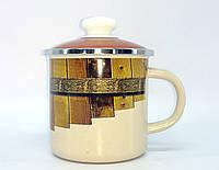 Кружка эмалированная с крышкой (1 л) Epos Тын, арт. 0207/4Кр