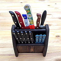 Подставка для ножей двухярусная Венге
