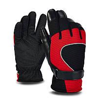 PJ02 Мужские зимние ветрозащитные противоскользящие рукавицы Перчатки Светоотражающая ленточная кожа Пэчворк Флис Теплый