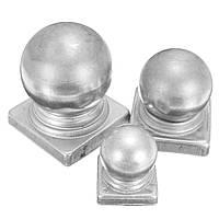 40mm 60mm 70mm Железный шар Верхняя заборная крышка заготовки с плоской защитой декора квадратной базы