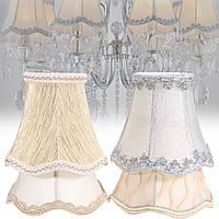 Винтаж Маленькие кружева Лампа Оттенки Текстурированные чехлы для потолочной люстры