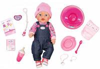 Кукла Baby Born Джинсовый стиль (43 см, с аксессуарами), Zapf