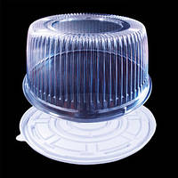 Упаковка для круглого торта на 1,5-2кг/50шт/1225 п/б ПЕТ