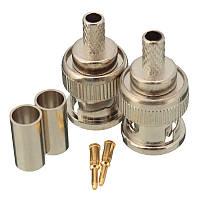 Excellway® 10 Устанавливает соединительные разъемы BNC Plug для адаптера RG58 RG-58 Коаксиальный кабель Антенна