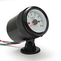 52mm Auto Авто Тахометр тахометр Meter 0-8000RPM W/Blue LED Подсветка 1TopShop, фото 3