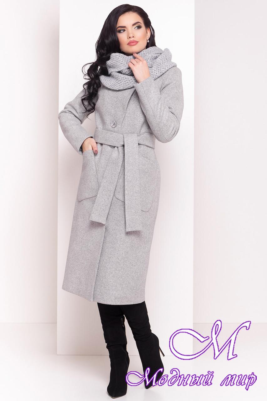 Женское зимнее пальто с капюшоном и поясом (р. S, М, L) арт. Габриэлла 4151 - 20313